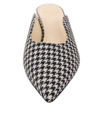 Womens Houndstooth Print Berta Kitten Heel Mule 4 Alternate View