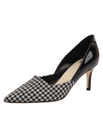 Womens Houndstooth Esty Pointed Toe Pump