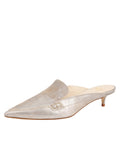 Womens Ice Vintage Leather Bablina Kitten Heel Mule