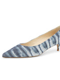 Womens Jean Tie Dye Deluxe Pointed Toe Kitten Heel 6