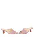 Womens Lilac Suede Orena Decorative Heeled Sandal 5