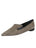 Womens Mini Leopard Glitter Max Pointed Toe Flat