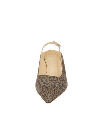 Womens Mini Leopard Glitter Brook Slingback Kitten Heel 4 Alternate View