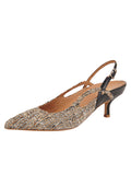 Womens Multi Sadetta Pointed Toe Slingback
