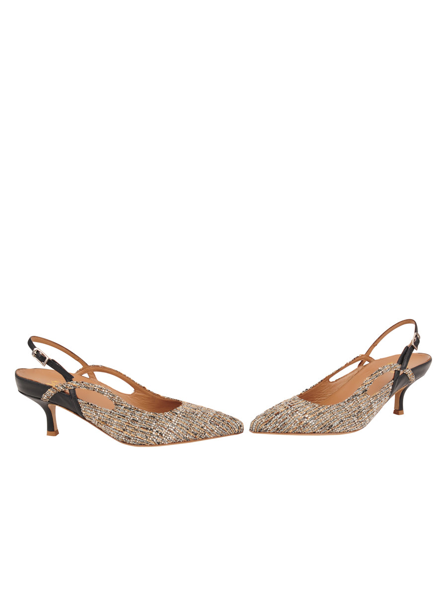 Womens Multi Sadetta Pointed Toe Slingback 5