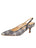 Womens Navy Multi Sadetta Pointed Toe Slingback