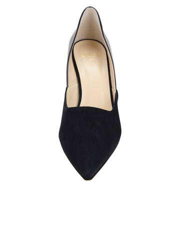Womens Navy Patent Esty Pointed Toe Pump 4 Alternate View
