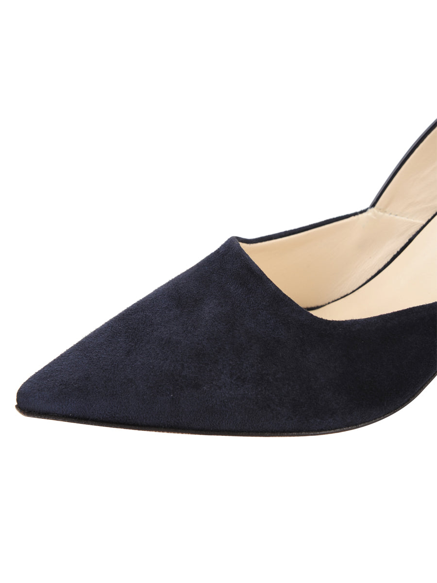 Womens Navy Patent Esty Pointed Toe Pump 6