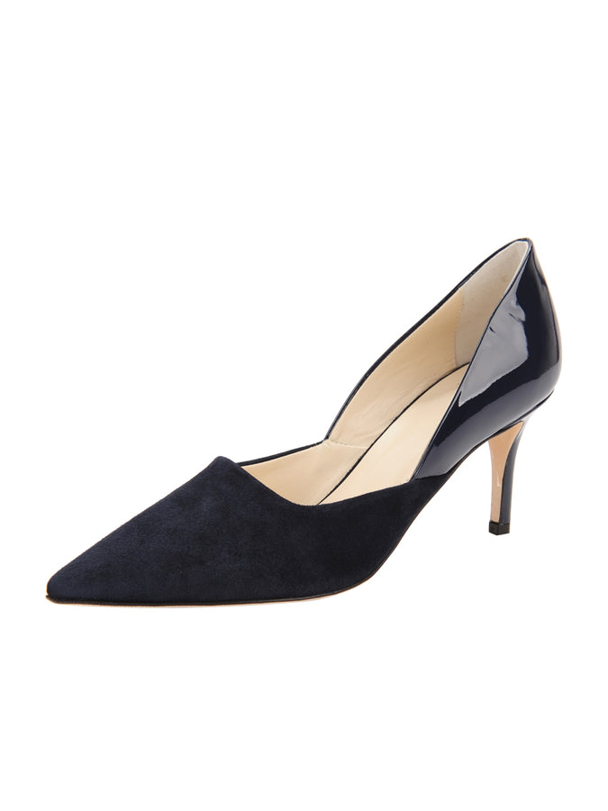 Womens Navy Patent Esty Pointed Toe Pump