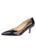Womens Navy Patent Softly Pointed Toe Pump