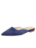 Womens Navy Suede Pecker