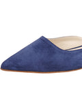 Womens Navy Suede Pecker 6