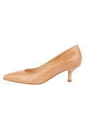 Womens Nude Patent Softly Pointed Toe Pump 7