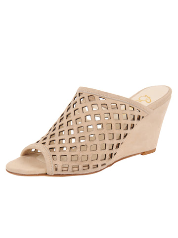 Womens Nude Suede Palazzo
