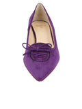Womens Purple Suede Brusca Pointed Toe Kitten Heel 4