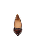 Womens Radish Patent Ilaria Pointed Toe Kitten Heel 4
