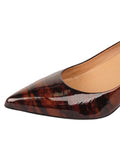 Womens Radish Patent Ilaria Pointed Toe Kitten Heel 6