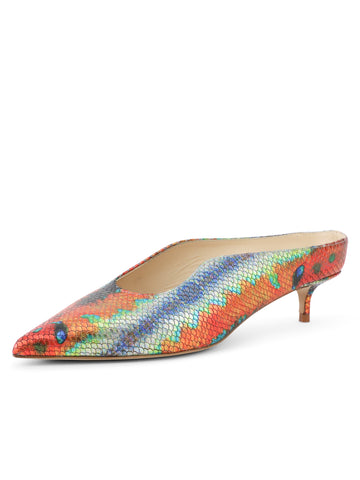 Womens Rainbow Fish Dorn Mule