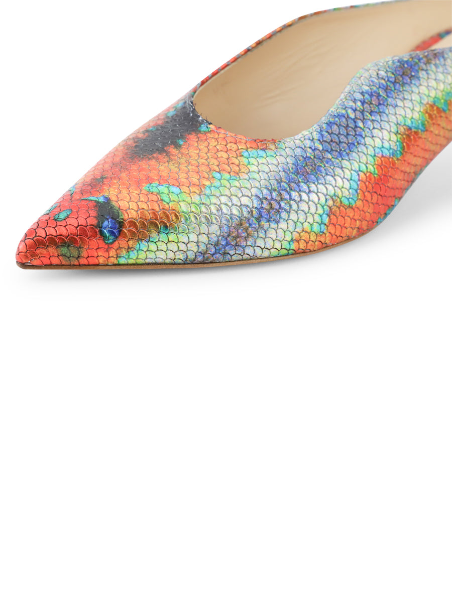 Womens Rainbow Fish Dorn Mule 6