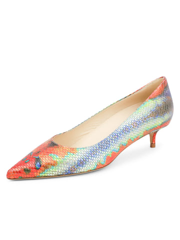 Womens Rainbow Fish Deluxe Pointed Toe Kitten Heel