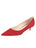 Womens Red Suede Born Pointed Toe Kitten Heel