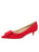 Womens Red Suede Beleney Pointed Toe Kitten Heel