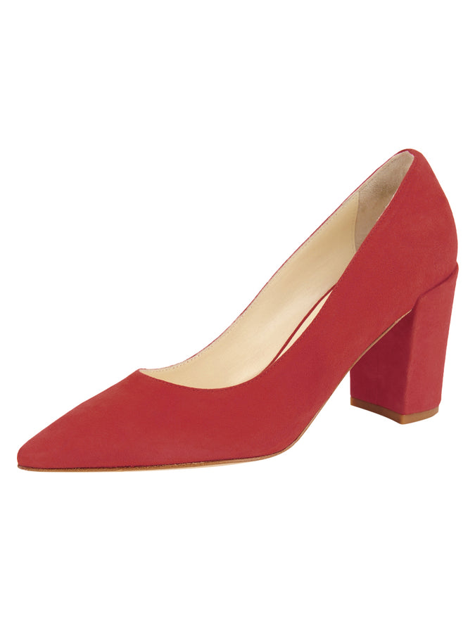Womens Red Suede Kay
