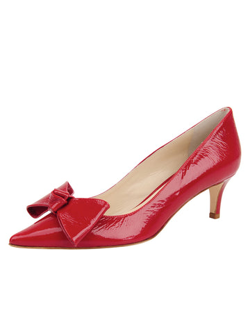 Womens Red patent Delphine Pointed Toe Pump