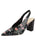Womens Rose Black Snake Stamp Kendell Slingback Pump
