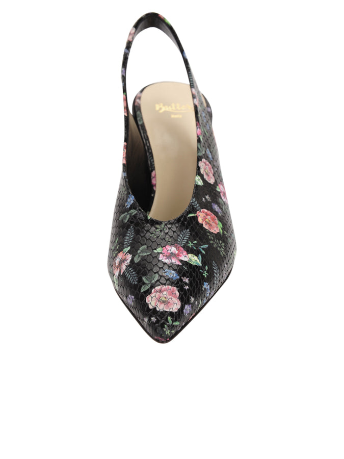 f338222750b Butter Shoes - Rose Black Snake Stamp Kendell Slingback Pump ...
