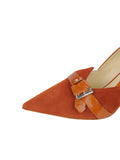 Womens Sienna Suede Emilia Pointed Toe Pump 6