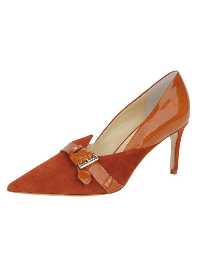 Womens Sienna Suede Emilia Pointed Toe Pump