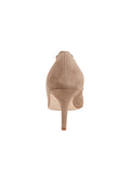 Womens Taupe Suede Eris Pointed Toe Pump 2