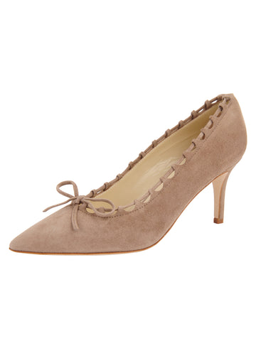 Womens Taupe Suede Eris Pointed Toe Pump