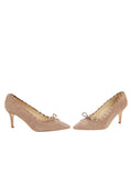 Womens Taupe Suede Eris Pointed Toe Pump 5