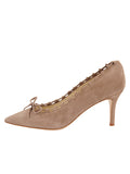 Womens Taupe Suede Eris Pointed Toe Pump 7