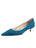 Womens Teal Suede Born Pointed Toe Kitten Heel