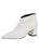 Womens White Nappa Whistle Pointed Toe Bootie