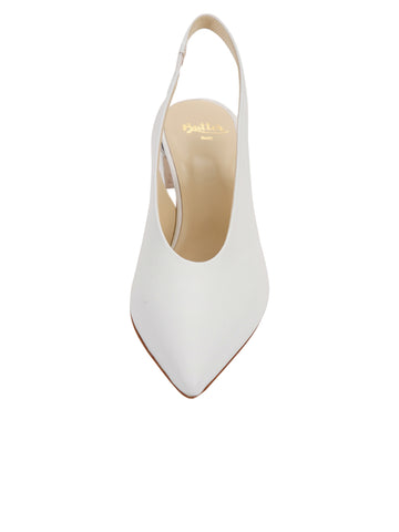 Womens White Nappa Kendell Slingback Pump 4 Alternate View