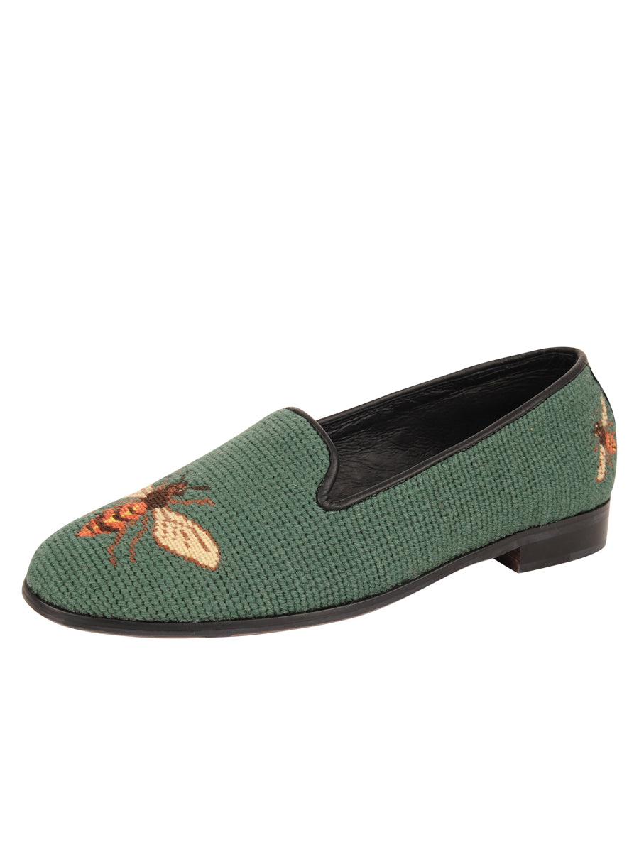Womens Bee - Sage Needlepoint Loafer 2