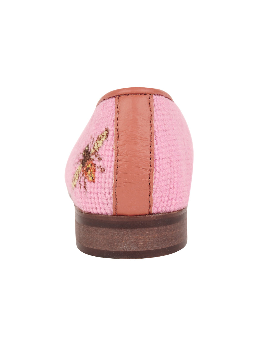 Womens Bee on Shrimp Pink Needlepoint Loafer 2