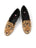 Womens Big Cat on Black Needlepoint Loafer