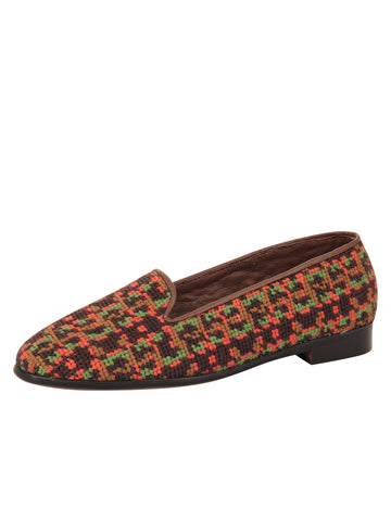 Womens Fall Tweed Needlepoint Loafer