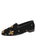 Womens Fleur de Lis - Black Needlepoint Loafer