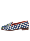 Womens Hydrangea Blue Needlepoint Loafer 6