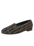 Womens Navy Tweed Needlepoint Loafer