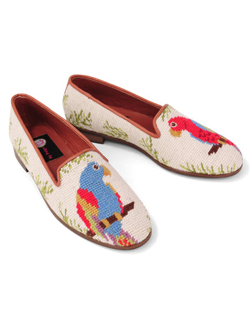 Womens Parrot Loafer Needlepoint Loafer