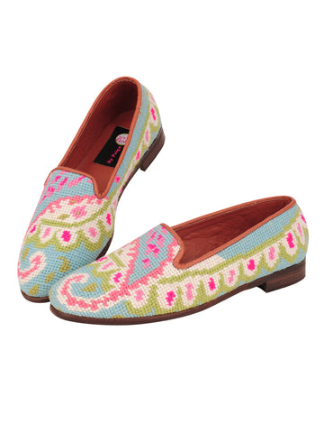 Womens Preppy Paisley Needlepoint Loafer