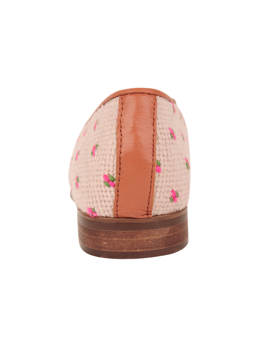 Womens Preppy Palm on Light Pink Needlepoint Loafer 2