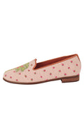 Womens Preppy Palm on Light Pink Needlepoint Loafer 6